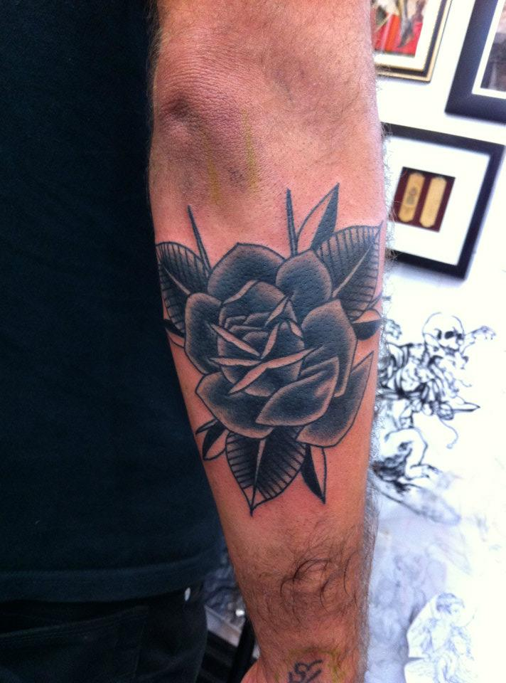 Traditional Rose Tattoos Black And Grey